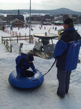 zimní sporty v areálu